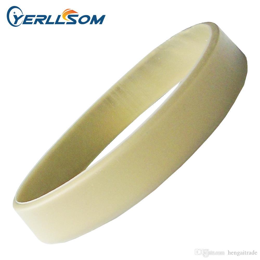 100 Teile / los Hohe qualität Arten von festen silikon armbänder für Veranstaltungen Y061605