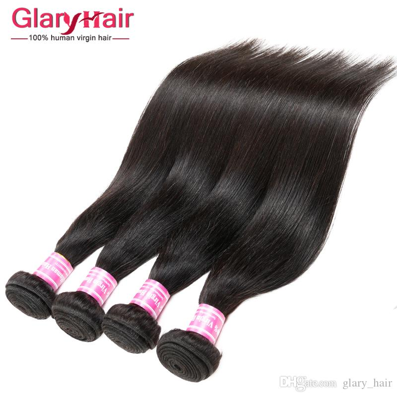 Cheap Unprocessed Brazilian Remy Hair Weaving Peruvian Silk Straight Hair Bangs Black Peruvian Virgin Hair Extension Factory Wholesale Price