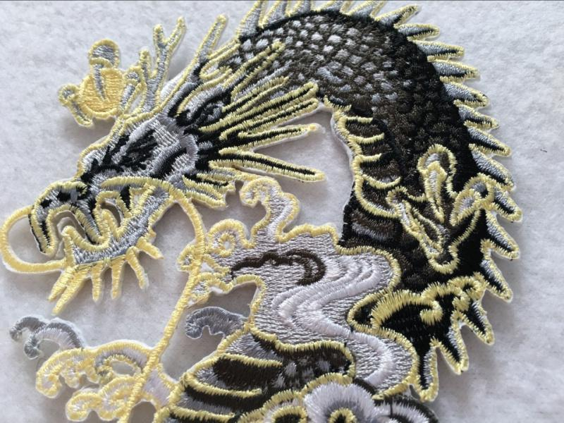 embroidered patches iron-on dragon pattern zakka accessories patchwork appliques DIY Chinese dragon for sewing dress