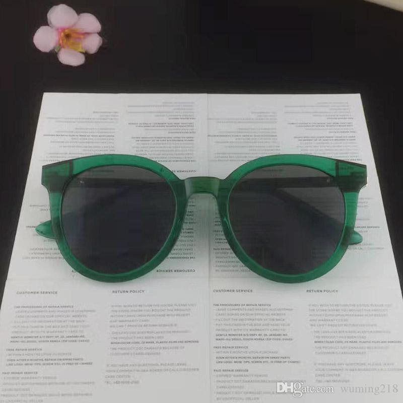 The 2017 Korean version of DIDI A polarizing sunglasses the size of the face round frame GM sunglasses with sunglasses