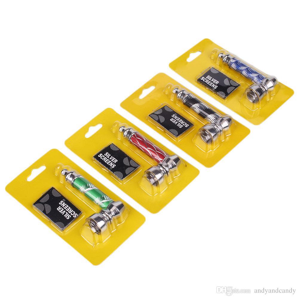 Portable Skala geformt Metall Tabak Pfeife Filter Pfeife Mini Zigarette Edelstahl Rauch Rohre Rauch Aktien Rauchen Accessorie