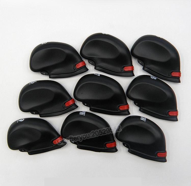fer club de golf Headcover / set de haute qualité PU Golf Protection Set avec corde en plastique de couleur noire
