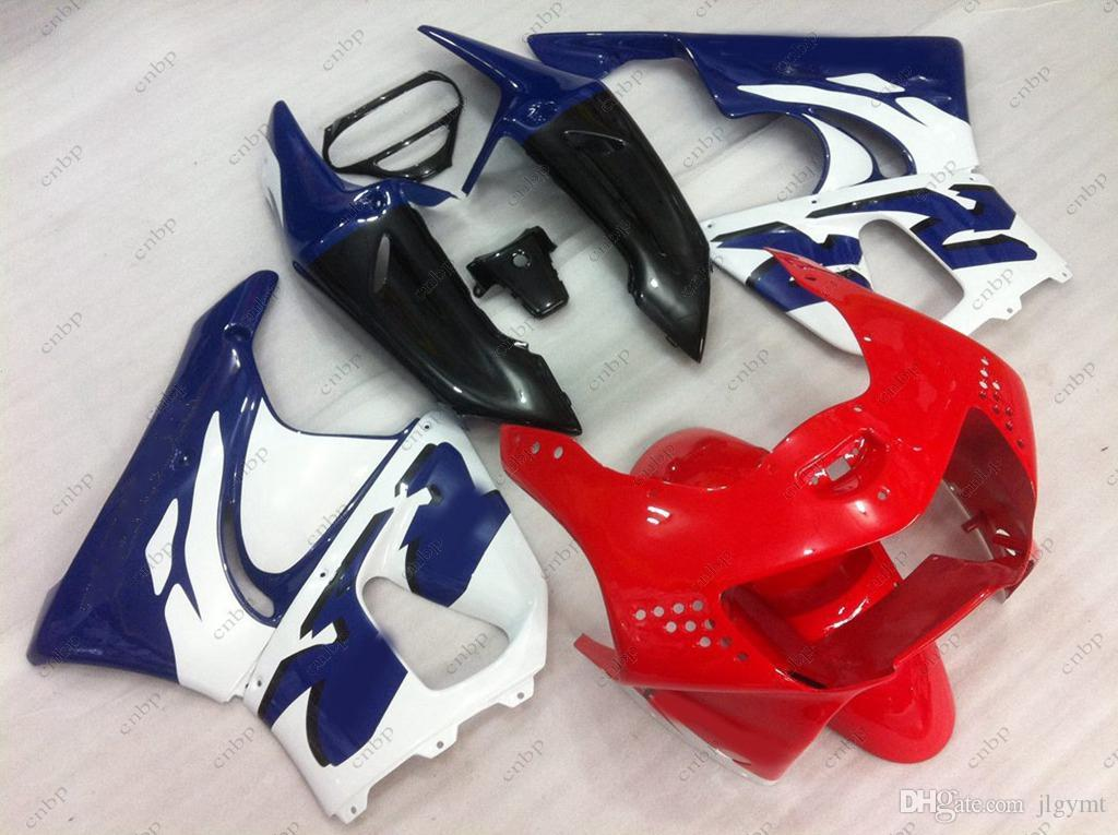 Full Body Kits CBR 919RR 99 For Honda Cbr919RR 1999 White Blue Red Fairing CBR919RR 98 1998 Motorcycle Fibreglass Fairings