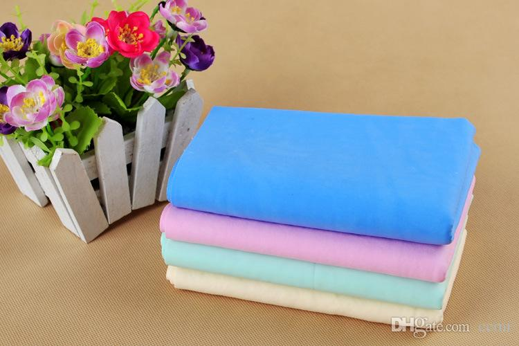 2018 Hot High quality Absorbption Environmental PVA cleaning pet towel dog cat Grooming Bath Products Mix Color Random 66*43*0.2cm