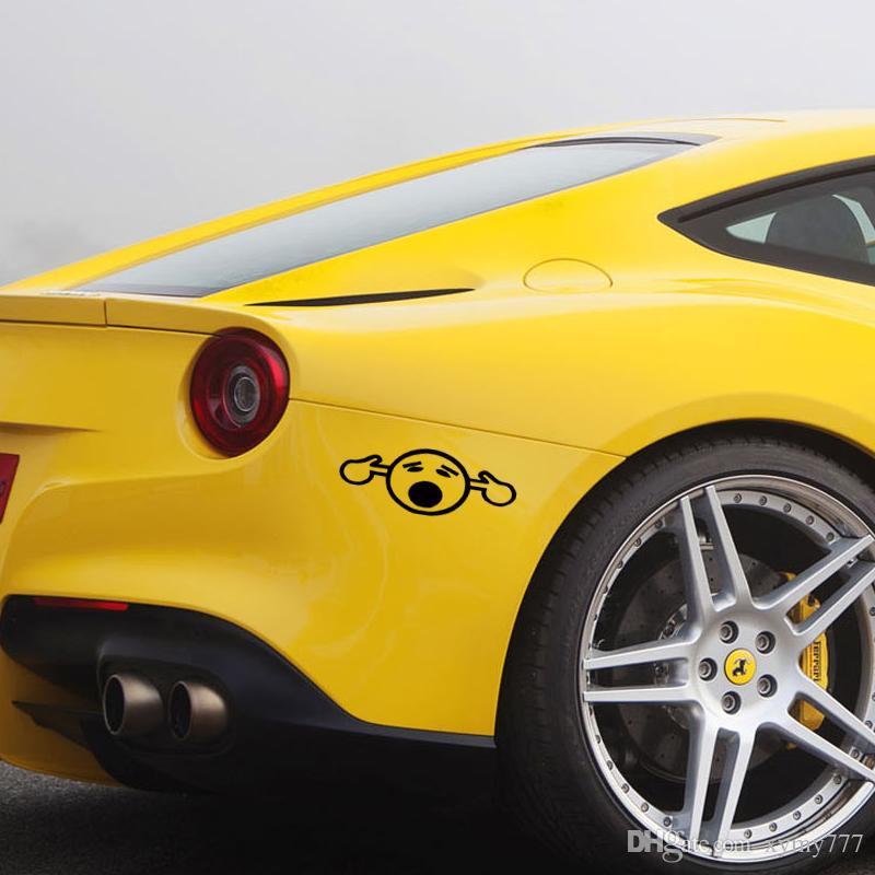 Sıcak Satış Araba stying Too Loud Smiley Parmaklar Yenilikçi Modifiye Kişilik tarzı Araba Pencere Vinil Sticker Jdm