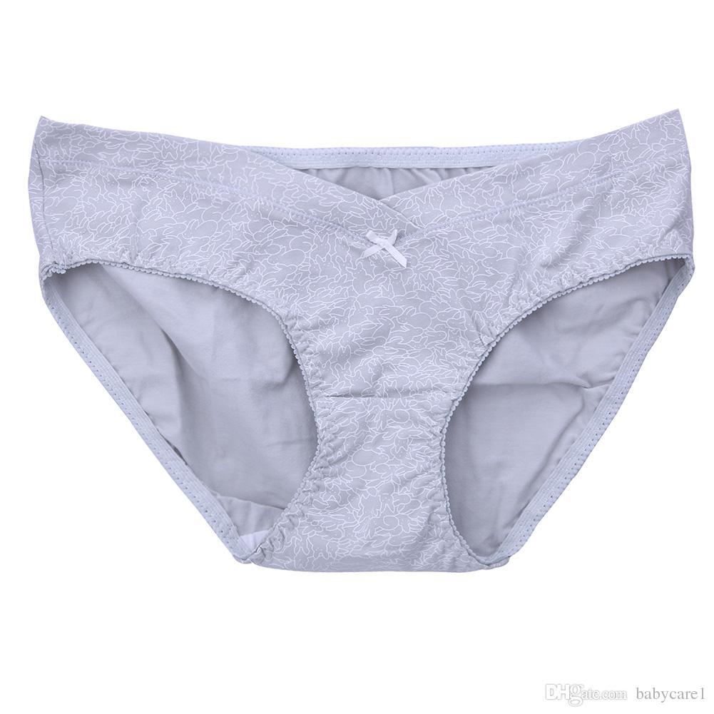 3 unids algodón mujer ropa interior embarazada bragas de cintura baja para el embarazo maternidad algodón íntimos calzoncillos bragas de embarazo