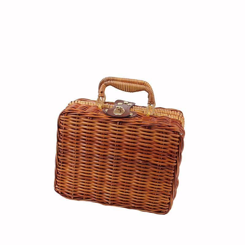 El yapımı hasır çanta yaz yeni çanta makyaj çantası kadın moda kutusu çantası