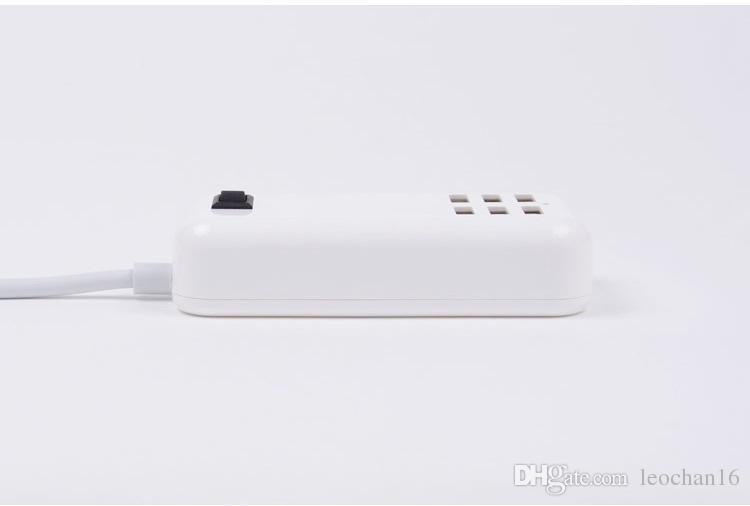 MINI 6 포트 휴대용 여행용 USB 충전기 어댑터 USB 허브 데스크톱 도크 고속 충전기 확장 용 소켓 소켓 EU EU 벽 충전기