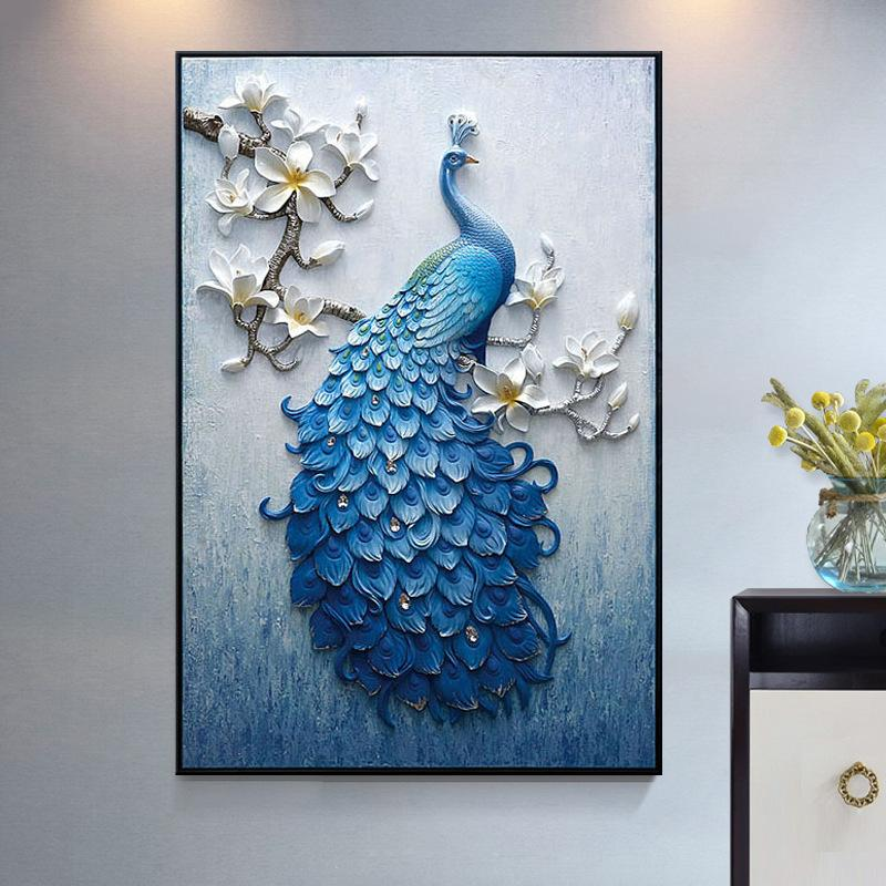 2019 5d New Peacock Diamond Painting Full Of Round Diamond
