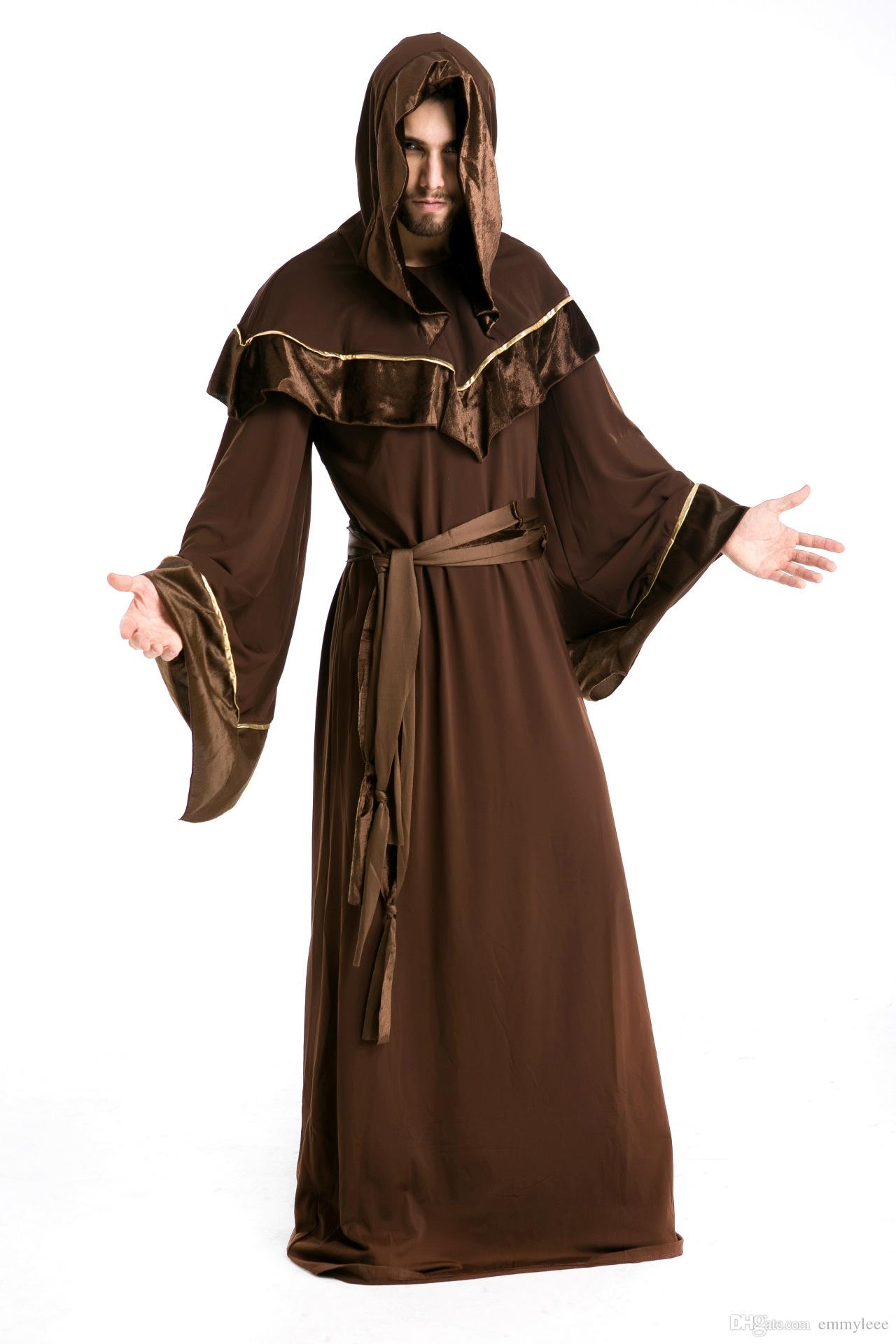 black devil costume gothic wizards european religious man halloween party cost costume stage costume cosplay halloween day dhl taoist mans costumes