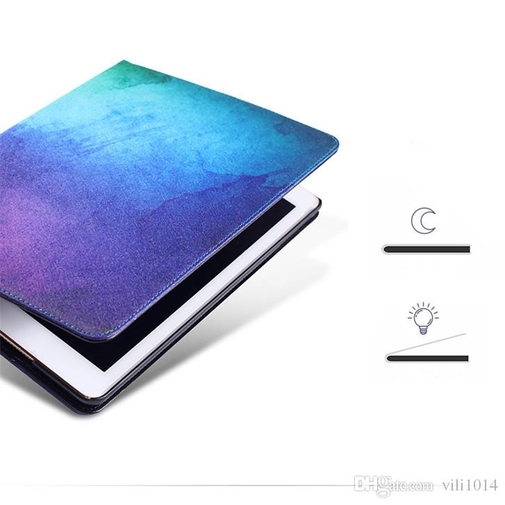 Sky Stars Painted PU Leather 360 Degree Rotating Case Cover For ipad Mini 2 3 4 Smart Cover Table Case for IPad 2 3 4 Air 1 2 Pro Retina