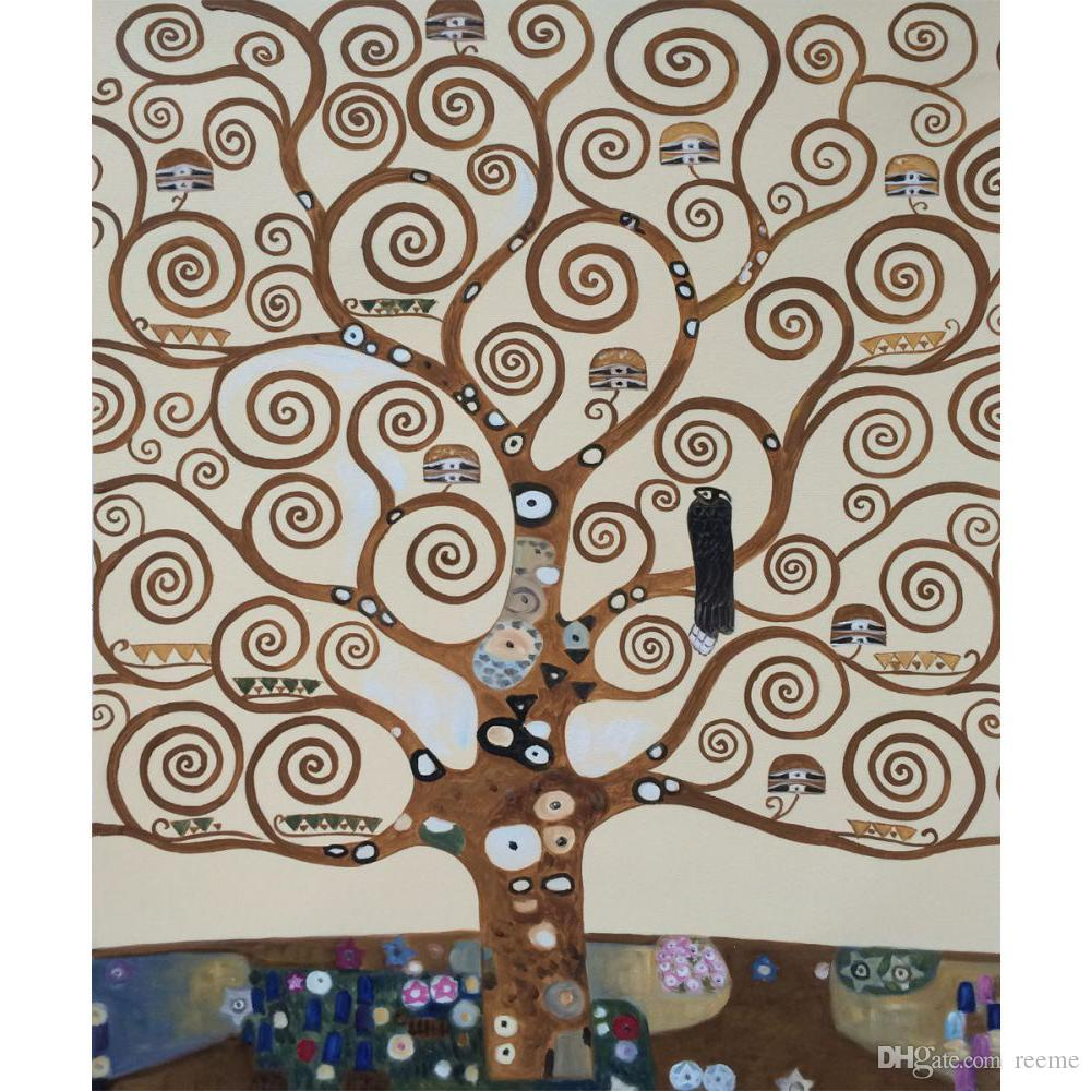 a1d98f1c83 Acquista Landscapes Art Gustav Klimt Albero Della Vita Riproduzione Della  Pittura A Olio Su Tela Dipinto A Mano Decorazioni La Casa A $101.51 Dal  Reeme ...