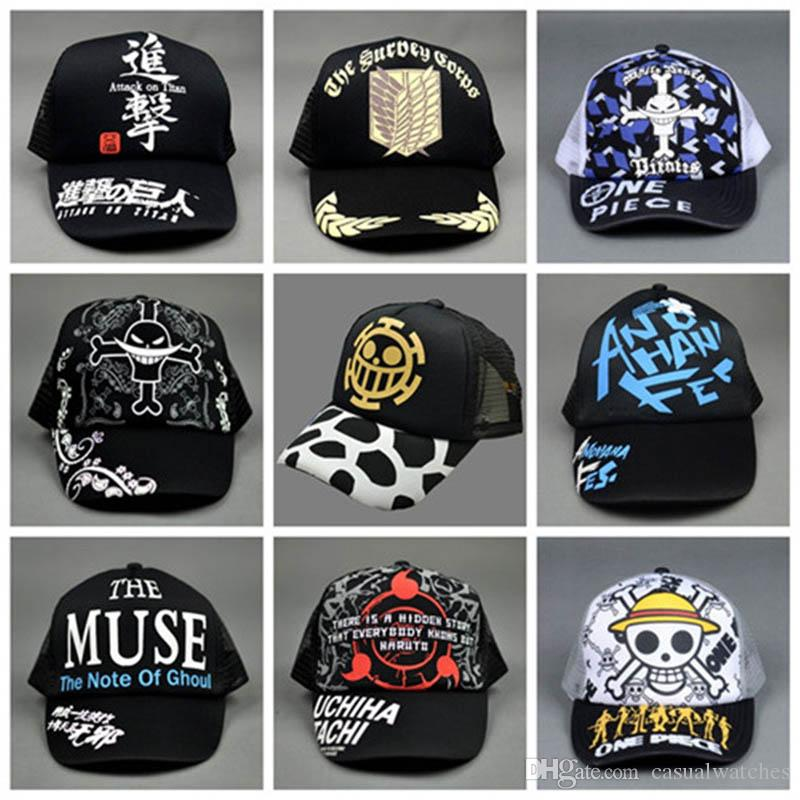 Cartoon Hat One Piece Attack On Titan Naruto Ninja Tokyo Ghoul Tomb Gintama  Sun Hat Cap Customized Hats Custom Hat From Casualwatches ae9ace53ceb
