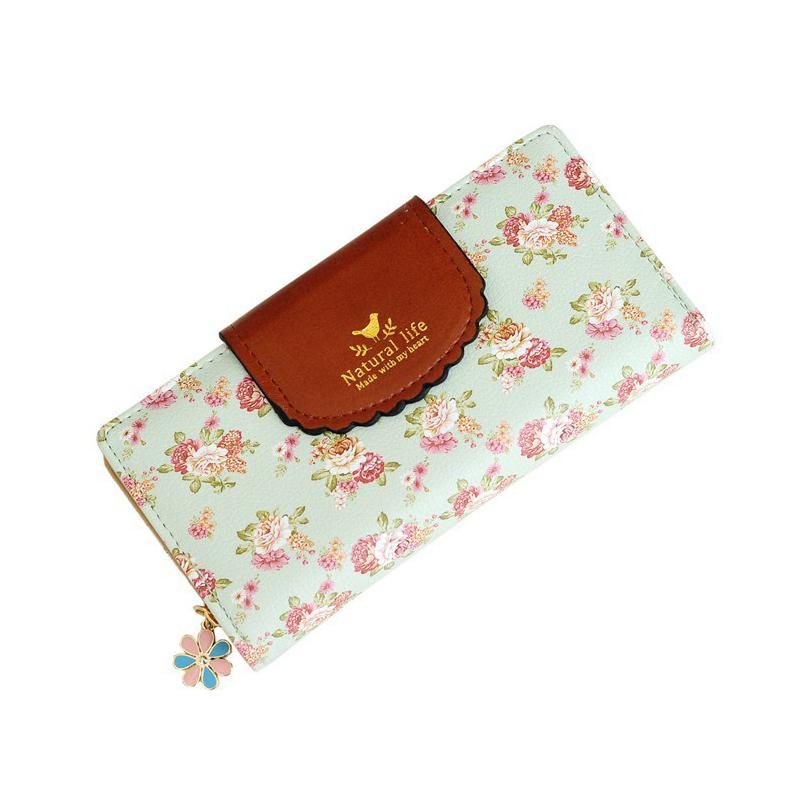 Wholesale- New Fashion Orchid Embroidery Women Long Wallet Bag ... dce7cc4704ae5