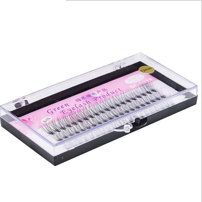 Knot Free 6-14mm thick 10 Flares False Eyelash Natural 0.10mm Black Individual Fake Eyelash 3d 6d Silk Eyelash Extension