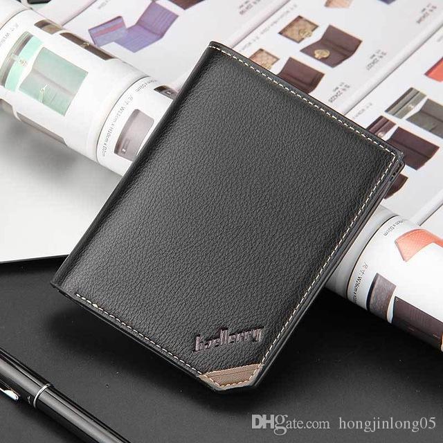 Qualität mode neue herren geldbörsen vintage kurze geldbörse beste geschenk horizontale vertikale student kreditkarteninhaber geldbörse brieftasche