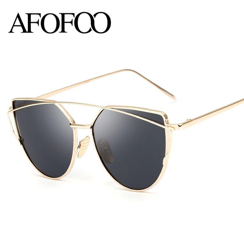 03f718aa440 Wholesale-AFOFOO Fashion Sunglasses Women Cat Eye Sunglasses Luxury ...