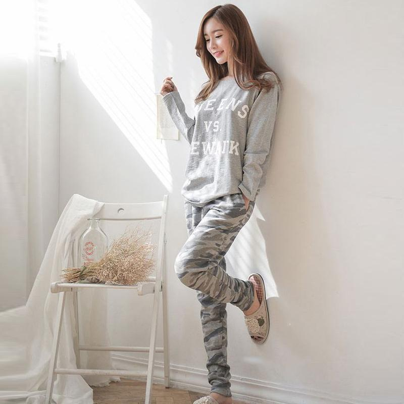 fb32c1c245 Online Cheap Wholesale 2017 Spring Autumn Women Girls Pajama Sets O Neck  Long Sleeve Tops+Pants Sleepwear Home Wear Pajamas Set Mx8 By Cety