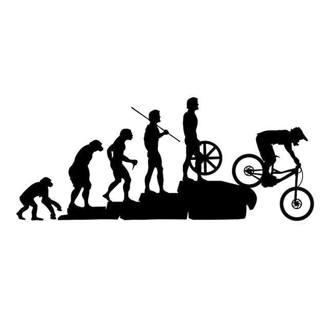 2018 23cmx10cm Interesting Mountain Bike Downhill Car Stickers Reflective  Personalized Decals Covering The Body Cartoon Vinyl Decals From Modifie, ...