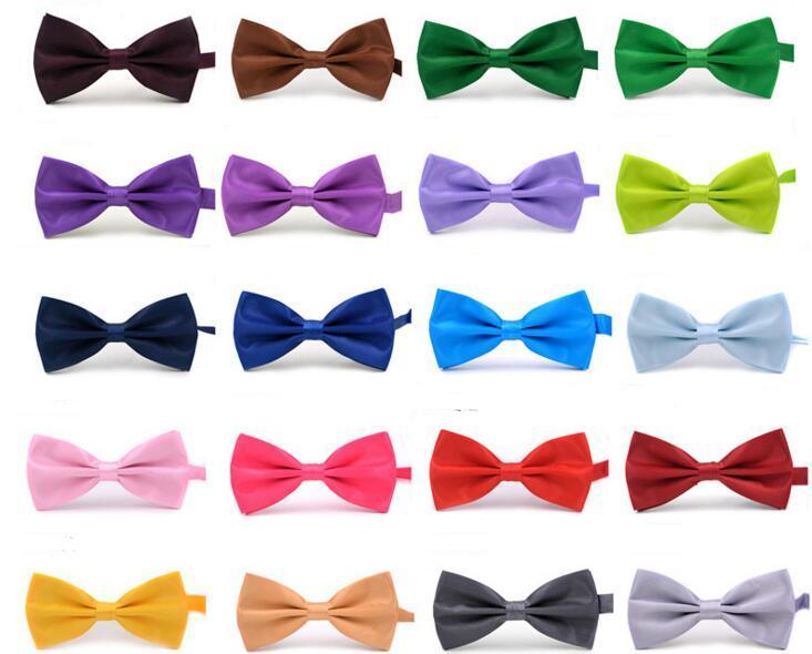 bow tie for Men Wedding Party black red purple bowties Women Neckwear Children Kids Boy Bow Ties mens womens fashion accessories