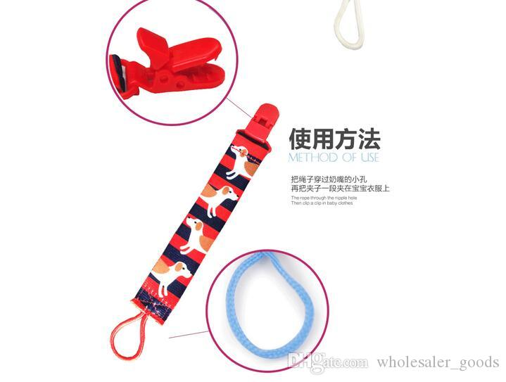 Baby Boy Girl Dummy Pacifier Soother Nipple Leash Strap Chain Clip Holder Baby Infant Girl Boy Dummy Pacifier children accessories