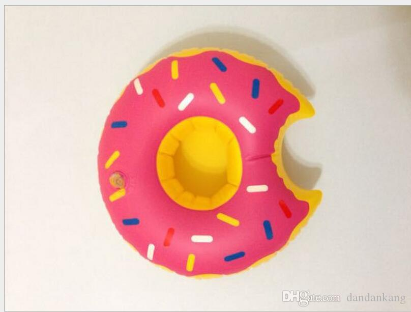Donut Piscina beber suporte de copo flutuante inflável pode Holder garrafa porta-copos garrafa flutua vidro flutua