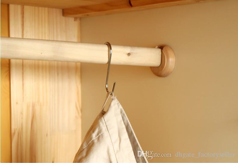 Productos para el hogar Pequeños ganchos en forma de metal para servicio pesado Cocina Tipo S Ganchos para sartenes colgantes Macetas Bolsas Toallas