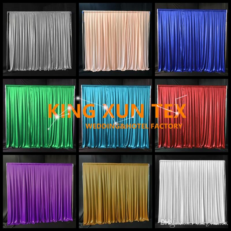 Cheapest Price 100% Ice Silk Wedding Backdrop Curtain \ Stage Background For Party Banquet Decoration