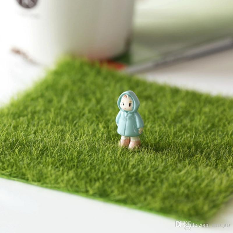 DIY Mini Fairy Garden Simulation Plants Artificial Fake Moss Decorative Lawn Turf Green Grass Micro Landscape Decoration 15x15cm