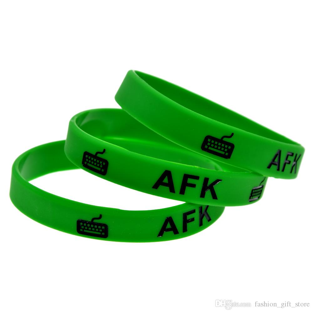 AFK Silicone Rubber Wristband Ink-Filled Color Perfect To Use In Any Benefits Gift For Gamer