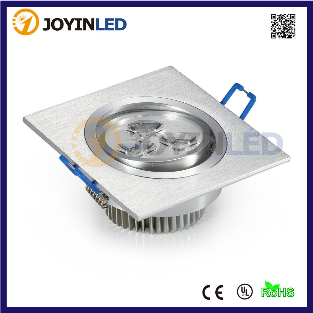 Wholesale 3w 6w Square Led Ceiling Light Recessed Led Panel Lamps ...