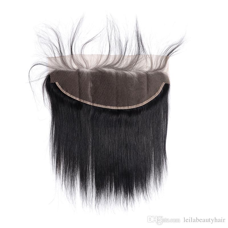 Menschliches Haar brasilianische Malaysian peruanische Indianer 13x4 Spitze Frontal Pre Zupforchester Baby-Haar-Körper-Wellen lösen Welle tiefere Welle Glattes Haar verworrene