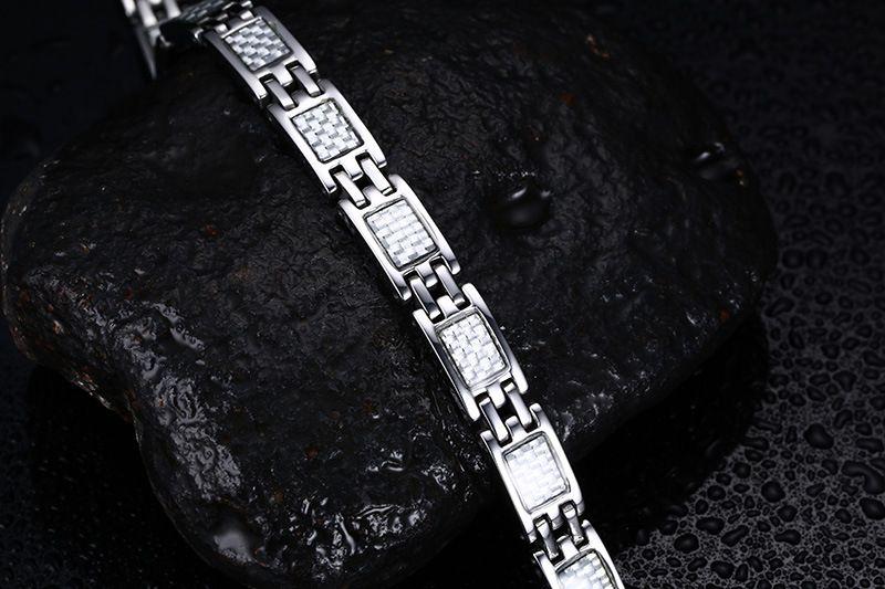 Hot Sale Men Magnetic Bracelets&Bangles For Men Jewelry Health Care Carbon Fiber Hand Bracelets Bangles B865S