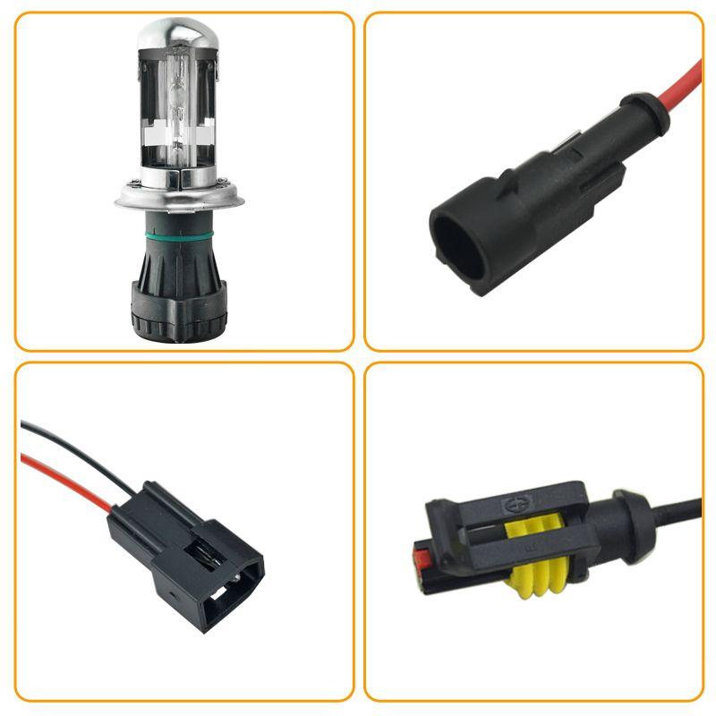 wholesale 35W DC12V Car Headlight H4 Xenon Bulb Hi/Lo Beam Bi-Xenon Bulb Light Slim Ballast HID Kit #4481