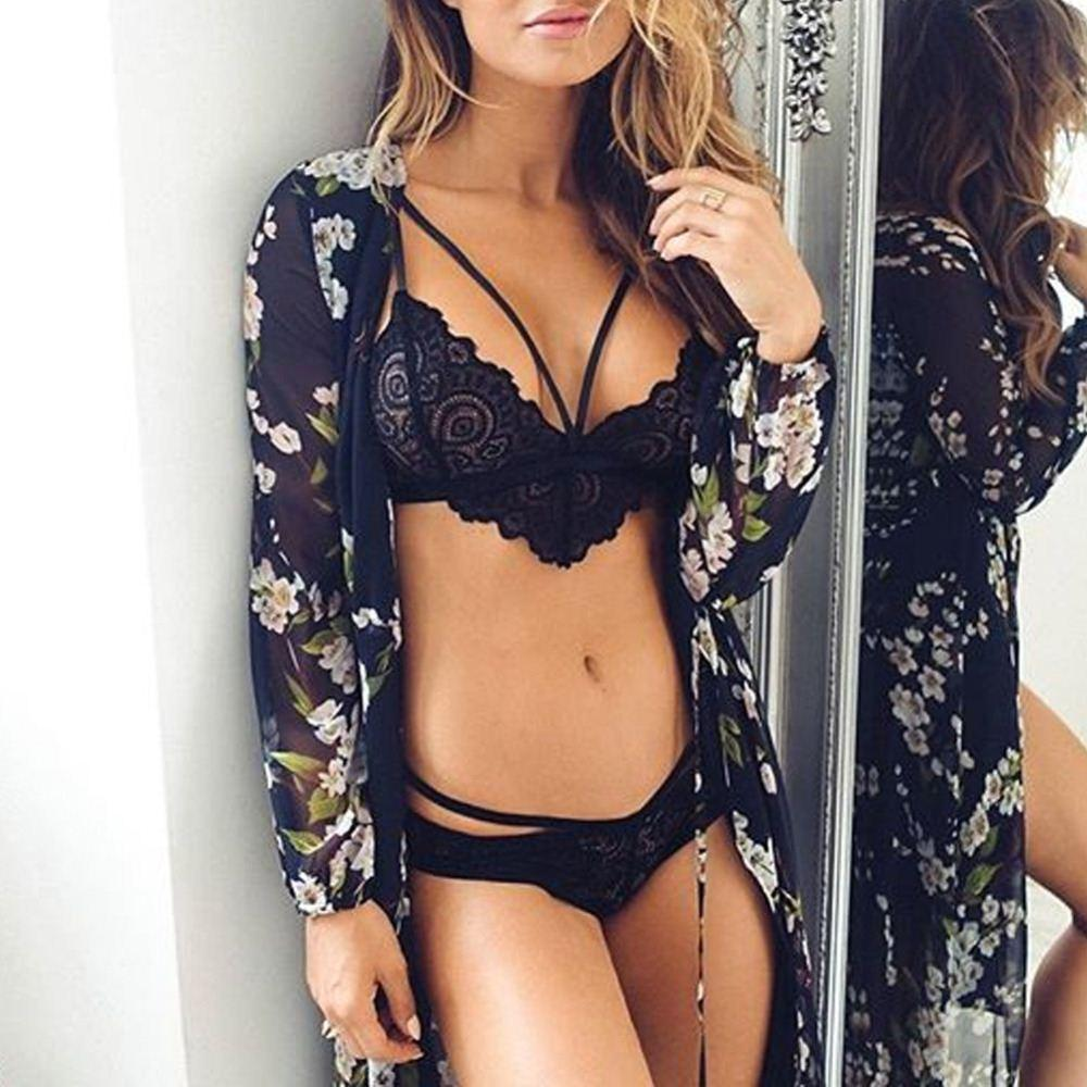 e13ee640aa645 2019 HOT New Women Ladies Sheer Floral Lace Bralette Bras Brasier Mujer  Sexy Lingerie Strappy Backless Brassiere Bikini Bra Top Z2 From Here well