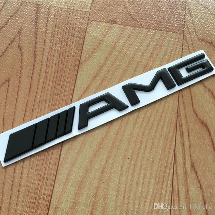 Etiqueta engomada de plata de la etiqueta engomada de la insignia del emblema de la cola posterior del coche de AMG para Mercedes