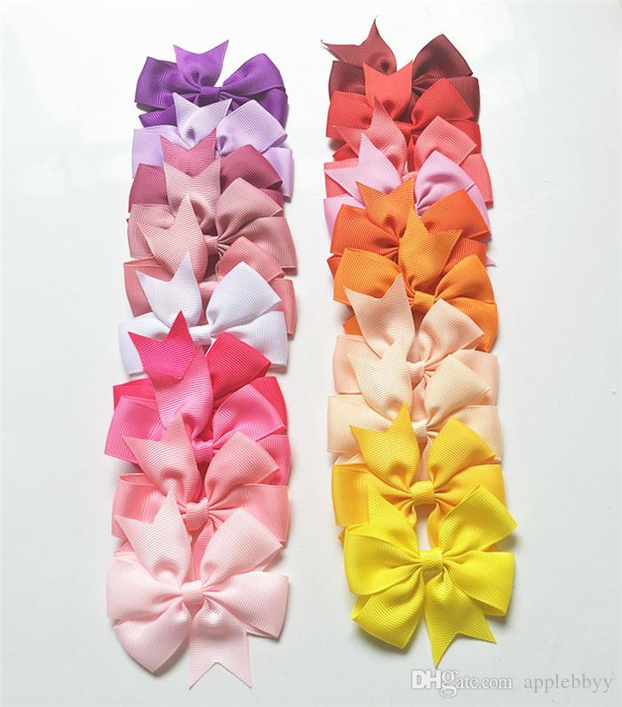 high quality grosgrain ribbon bows for hair bows,baby hairbows girl bow WITH CLIP