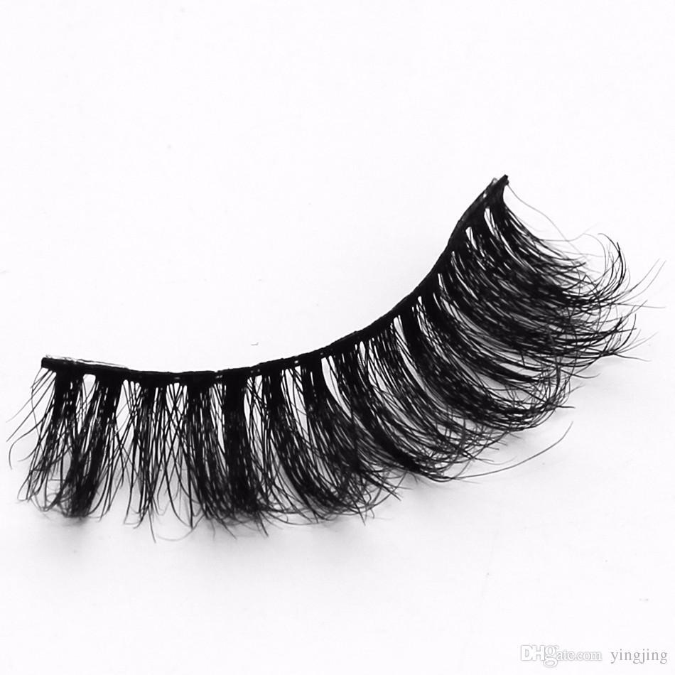 2017 Nouveau e / Ensembles de Cheveux Faux Cils Faux 100% Fait À La Main De Haute Qualité Longue Extension Yeux Outils De Maquillage