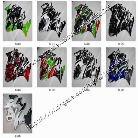 8Gifts + carénage ABS de course blanc vert 2009 2010 2011 ZX6R 636 Carénage de moto Ninja pour KAWASAKI