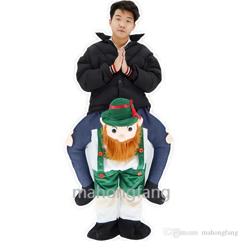 The green straps funny Carry Me Fancy Dress Up Ride On Oktoberfest Mascot Party Mascot Halloween Costume One Size Fits Most Fancy Pants