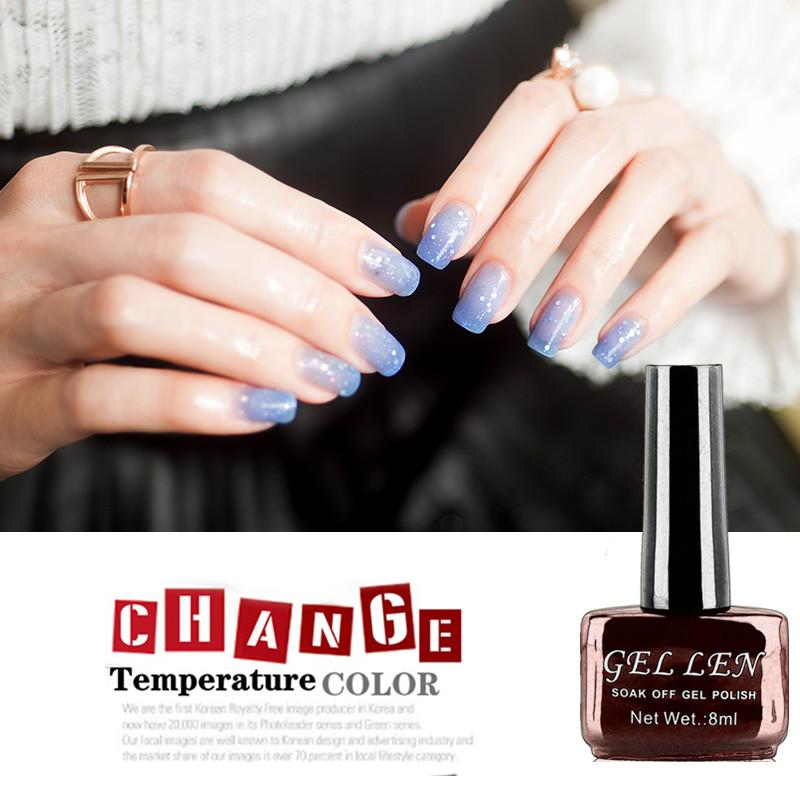 Wholesale Gel Len New Mood Color Changing Gel Nail Polish 8ml Blue ...