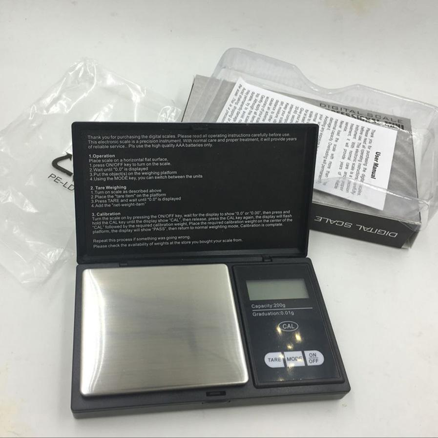 200*0.01g Mini balance Digital Scale Pocket electronic scales Multifunctional Weighing Scales for Diamond Gold jewelry