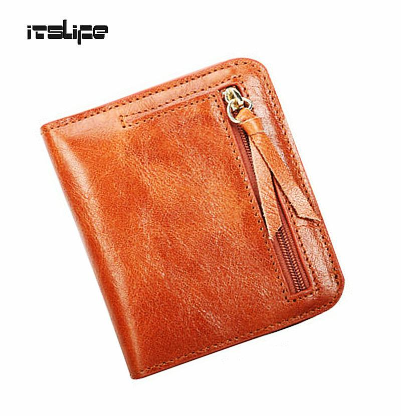 0b5fa4ace4c9 Wholesale Oil Wax Leather Wallet Female Wallets With Zipper Coin Bag  Genuine Leather Women Wallets Small Short Purses For Female Cell Phone Wallet  Wristlet ...