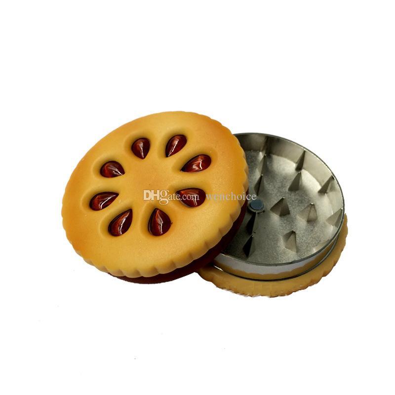 Novo design! Moda Criativo Mão Biscoito Magnético Design Herb Grinder Triturador de Tabaco Criativo Tabaco Fumar Moedor