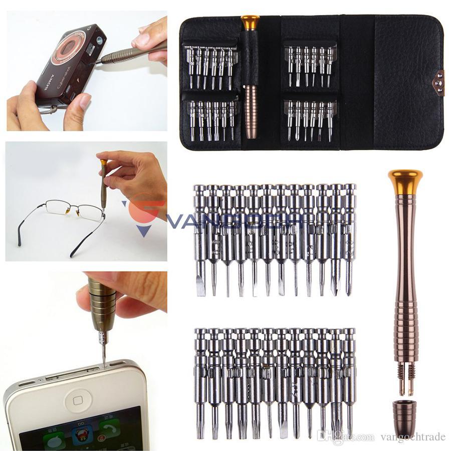 Heißer Großhandel 25 in 1 Präzisions-Schraubendreher-Sets Werkzeuge Professionelle Torx-Schraubendreher für Computer-Reparatur-Tools Handy-Reparatur-Tools