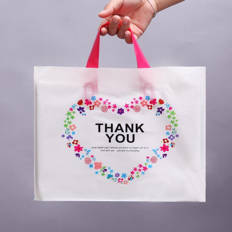 Wholesale 37 38cm Plastic Gift Bag For Wedding Gift Package Bags With Handles Shopping Packaging Bag Wholesale Tote Bag Large Size