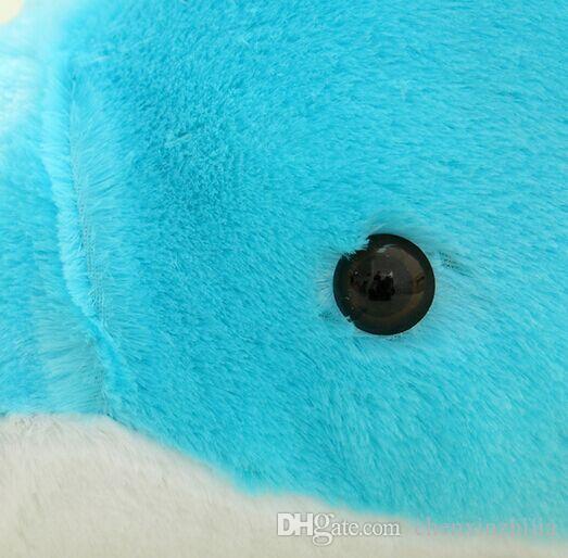 45 CM 60 CM 100 CM Dev Büyük Topluca Doldurulmuş Hayvanlar Peluş Güzel büyük yunus bebek / Mavi Pembe Ücretsiz Kargo
