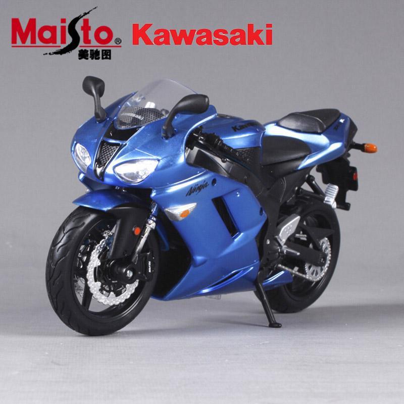 Scale Maisto Kawasaki Ninja Zx Diecast Metal Race