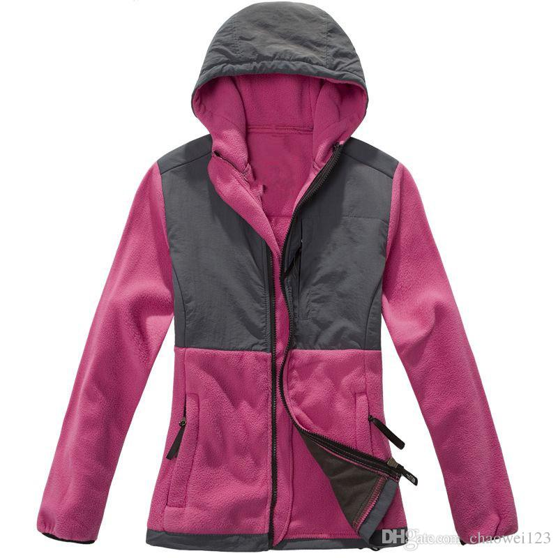 New Winter Women's Fleece Warm Jackets Pink Ribbon For Ladies Windproof Coats Outdoor Casual Soft Shell Down Ski Sports Jacke