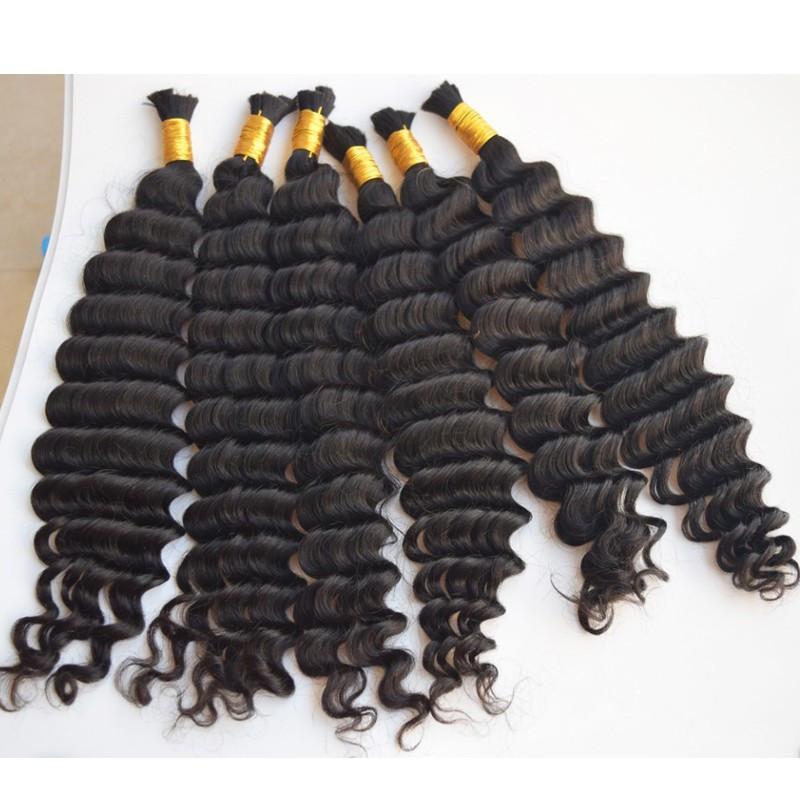 8A Derin Kıvırcık Perulu Toplu Saç Örgüyor 3 ADET Yok Eklenti Derin Dalga Örgü Perulu İnsan Saç Toplu